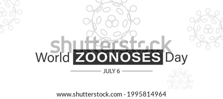 Vector Illustration of World Zoonoses Day July 6.  Zoonotic diseases like Ebola SARS, Rabies, etc. Stock photo ©