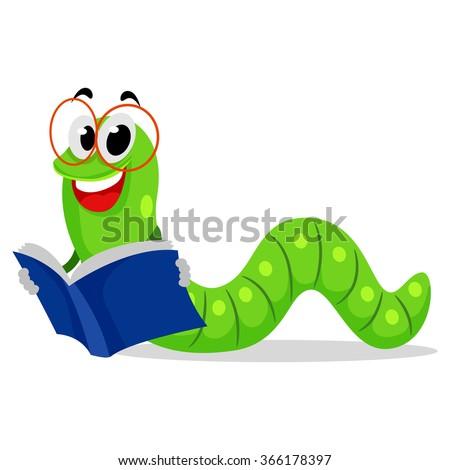 vector illustration of worm