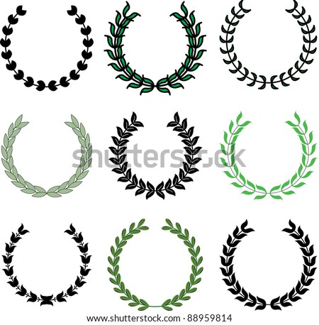 vector illustration of wreaths