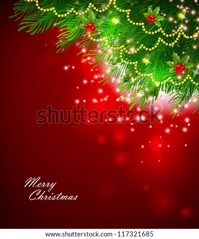Vector illustration of Xmas branch #117321685