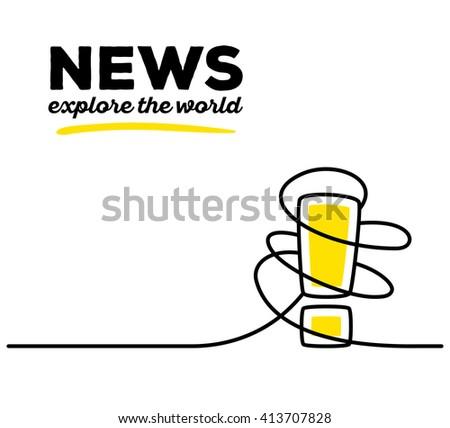 vector illustration of yellow