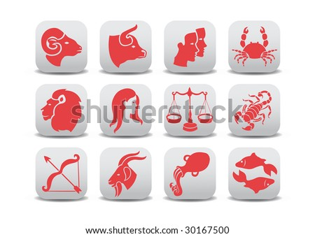 Vector illustration of zodiac icons .You can use it for your website, application or presentation
