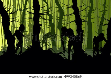 vector illustration of zombies