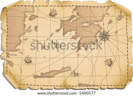Vector illustration - old map