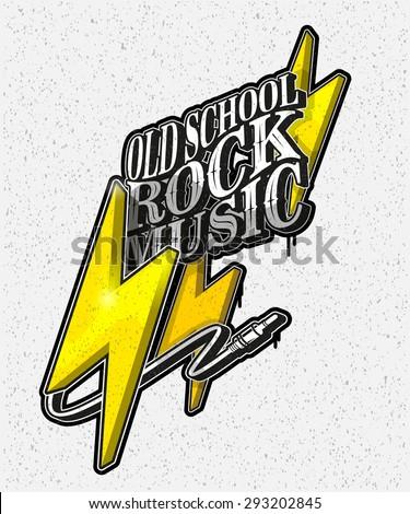 vector illustration  old school