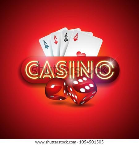 vector illustration on a casino