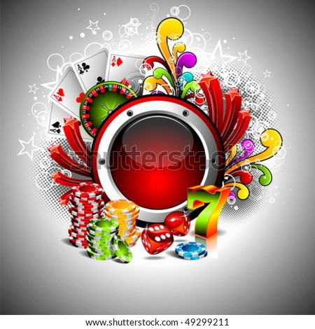 Vector illustration on a casino theme with space for your text.