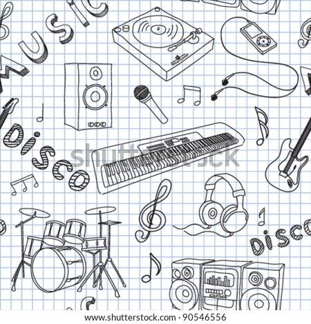 Vector illustration on music