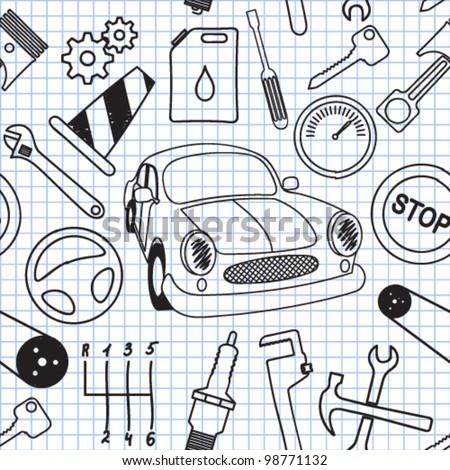 Vector illustration on the mechanics