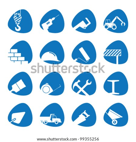 Vector illustration on the theme of building