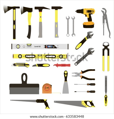 vector illustration on the theme of building tools