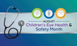 Vector illustration on the theme of Children's eye health and safety awareness month observed each  year during August.