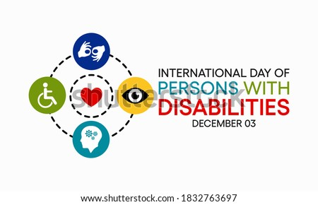 Vector illustration on the theme of International day of persons with disabilities observed each year on December 3rd across the globe.