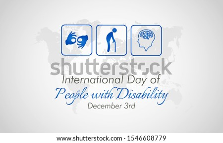 Vector illustration on the theme of International day of Persons with disabilities on December 3rd.