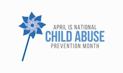 Vector illustration on the theme of National Child abuse prevention and awareness month of April.