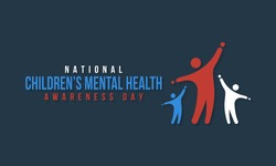 Vector illustration on the theme of National Children's Mental health awareness day observed in Month of May, seeks to raise awareness about the importance of children's mental health.