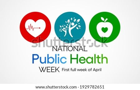 Vector illustration on the theme of National Public health week observed each year During first full week of April across United states.