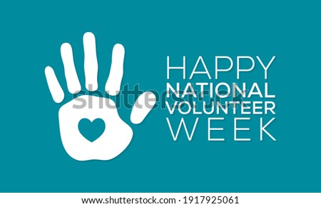 Vector illustration on the theme of National Volunteer week observed each year during third week of April. Stockfoto ©