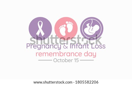 Vector illustration on the theme of Pregnancy and infant loss remembrance day observed each year during October.