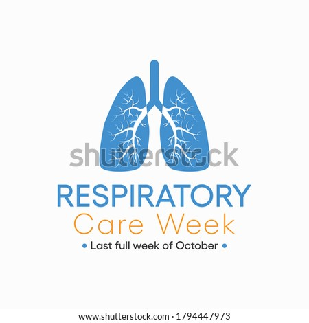 Vector illustration on the theme of Respiratory Care week observed each year in last full week of October across the globe.