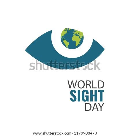 Vector Illustration on the theme World Sight Day
