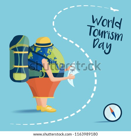 Vector Illustration on the theme World Tourism