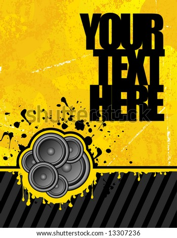 vector illustration on yellow background ready for your own text