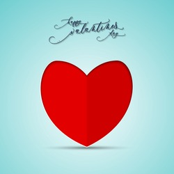 Vector illustration or background with heart for happy valantine day.