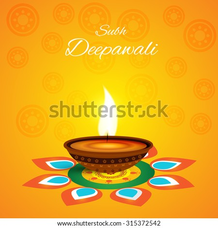 Vector illustration or greeting card for diwali ez canvas vector illustration or greeting card for diwali m4hsunfo