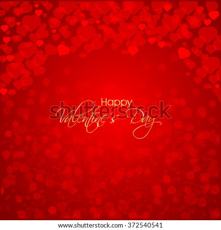 Vector illustration or greeting card for happy valentine day.