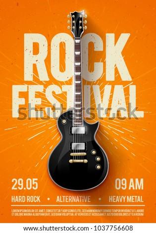 vector illustration orange rock ...