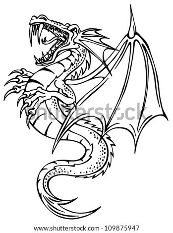 Gallery For gt Chinese Dragon Outline Tattoo
