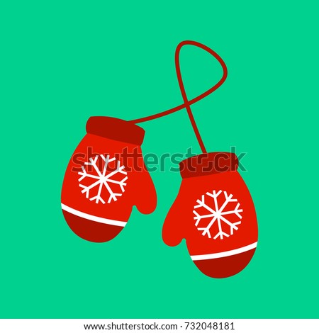 Pair Of Red Mittens - Red Kids Mittens , Free Transparent Clipart -  ClipartKey