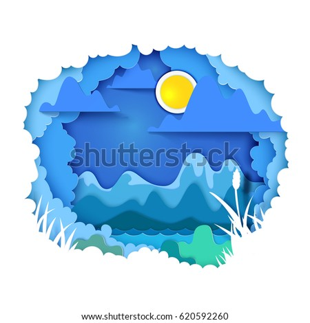 vector illustration paper art