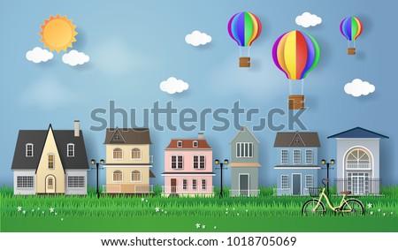 vector illustration. paper art...