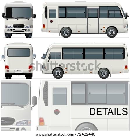 Vector illustration passenger bus