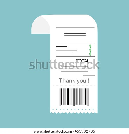 Vector illustration paying bills concept. Payment of utility, bank, restaurant and other bills. Giving or receiving bill.