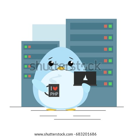 vector illustration penguin