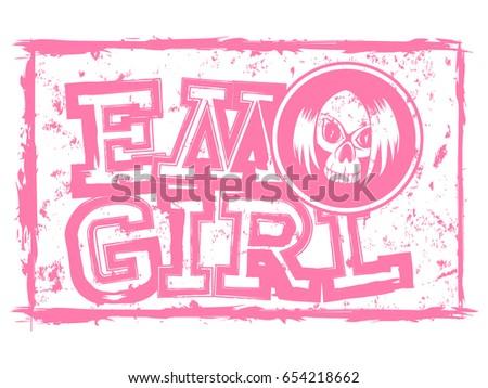 vector illustration pink