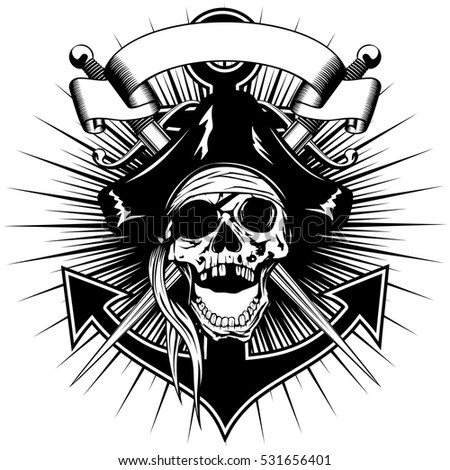 vector illustration pirate sign