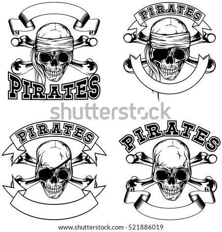 vector illustration pirate
