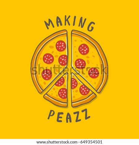 Vector illustration pizza peace