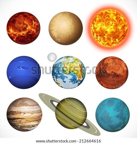 vector illustration planets