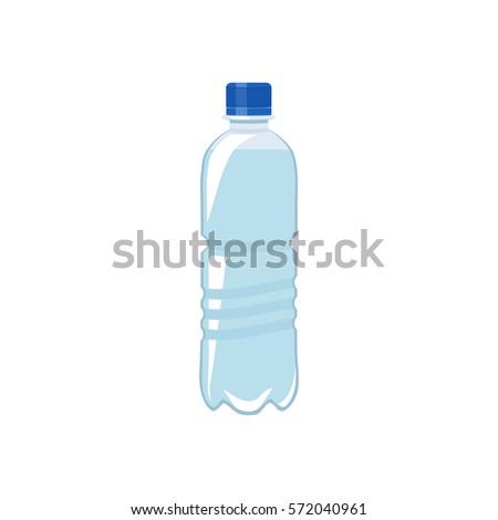 Vector illustration. Plastic bottle of water.