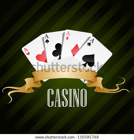 vector illustration poker poster casino