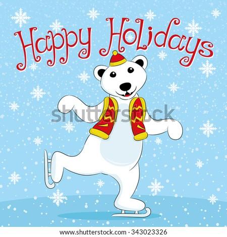 vector illustration polar bear