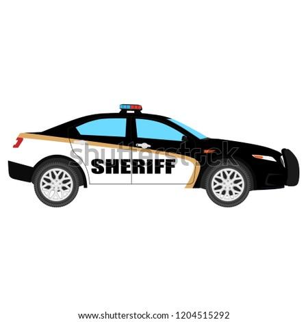 vector illustration police car