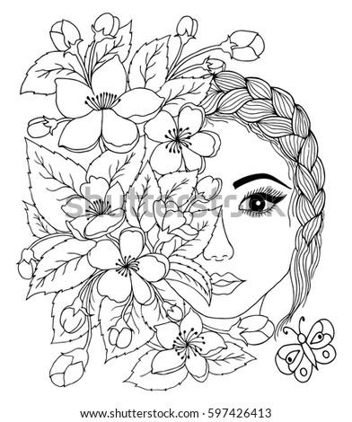 vector illustration  portrait