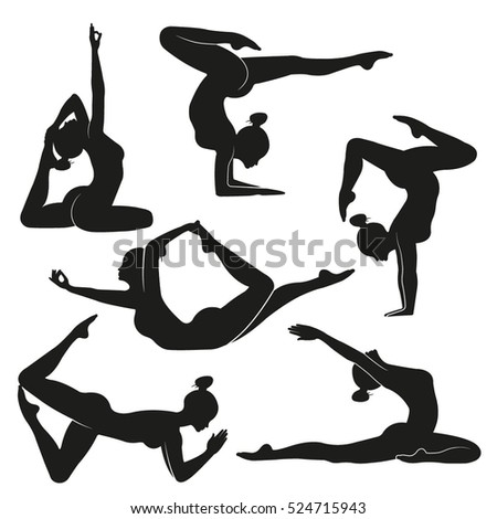 stock-vector-vector-illustration-poses-of-yoga-set-of-female-silhouettes-doing-yoga-illustration-symbolizes