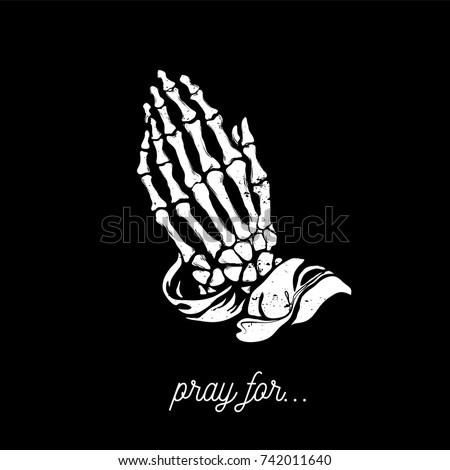 vector illustration   praying